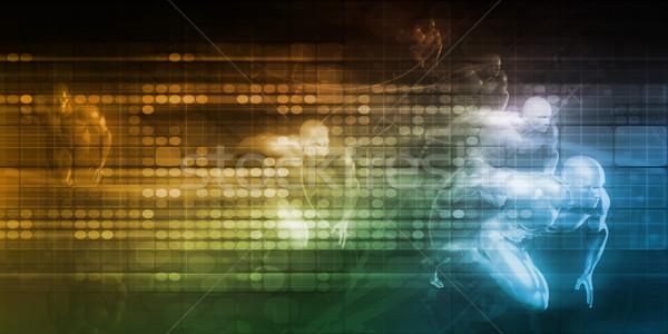 Wzrost działalności proces korporacyjnych cel Zdjęcia stock © kentoh
