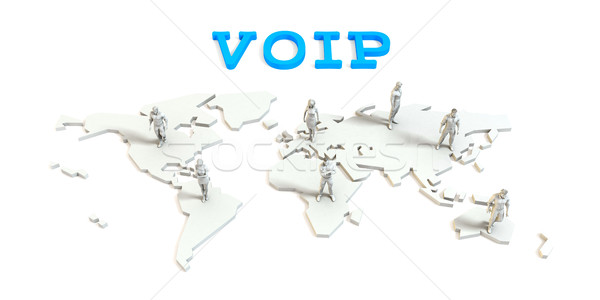 Voip Global Business Stock photo © kentoh