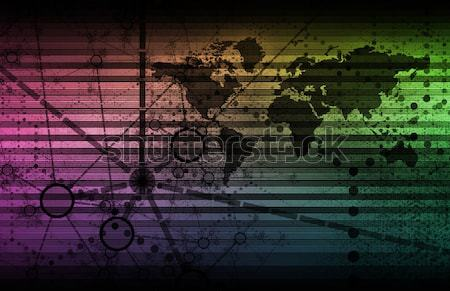 Veiligheid technologie globale kunst internet Stockfoto © kentoh