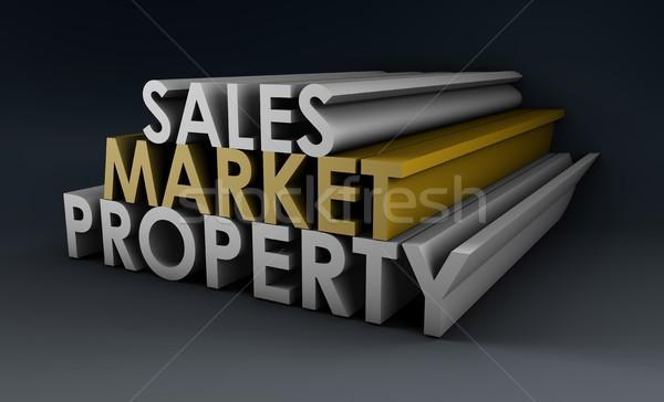 販売 市場 プロパティ 不動産 ビジネス 家 ストックフォト © kentoh