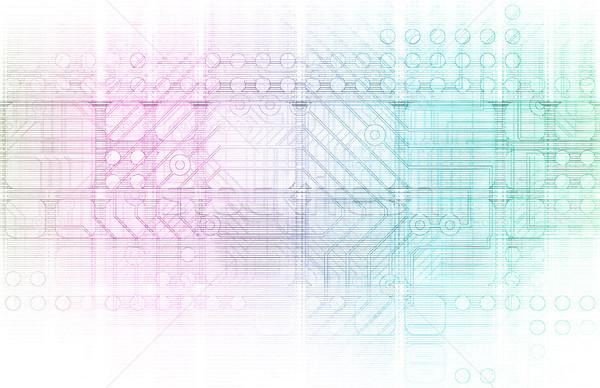 Zintegrowany rozwiązania internetowych Internetu krzyż Zdjęcia stock © kentoh