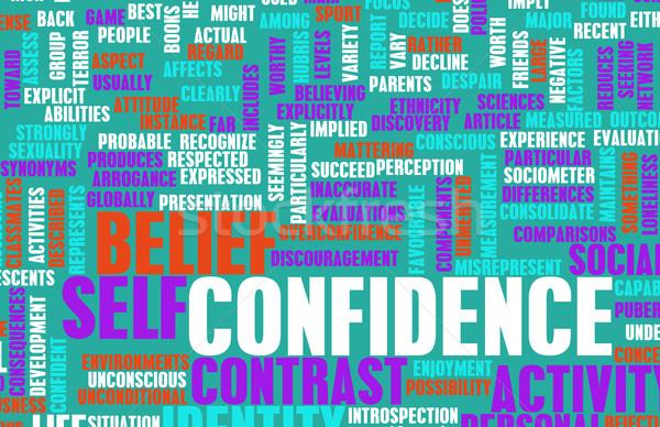 Confiança pessoal crença edifício chave construir Foto stock © kentoh