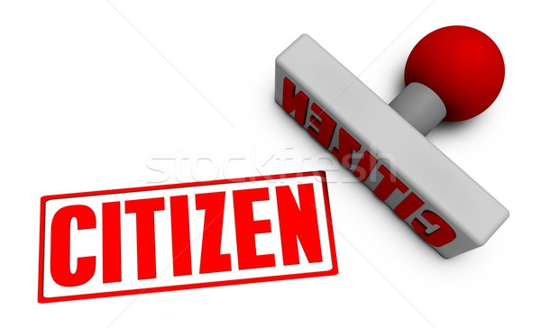 Citizen Stamp Stock photo © kentoh