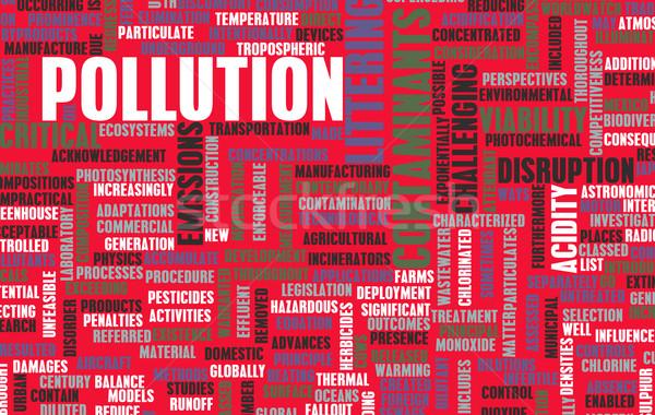 Szennyezés globális probléma ipar ipari energia Stock fotó © kentoh