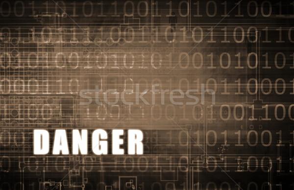 危険 警告 デジタル バイナリ 抽象的な コンピュータ ストックフォト © kentoh