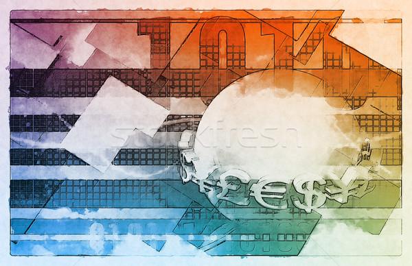 Globalização abrir mercado economia internet globo Foto stock © kentoh