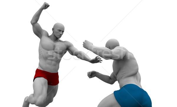 Defensie zelfverdediging business man onderwijs industrie Stockfoto © kentoh