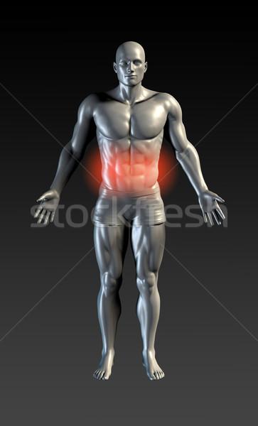 Addominale lesioni rosso bagliore salute sport Foto d'archivio © kentoh