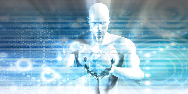 Milieu behoud technologie wereldbol aarde Stockfoto © kentoh