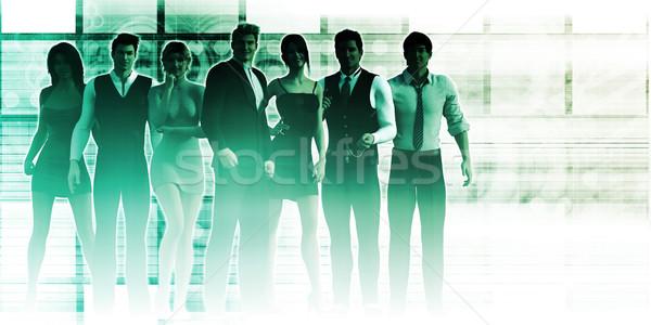 Confident Team Stock photo © kentoh