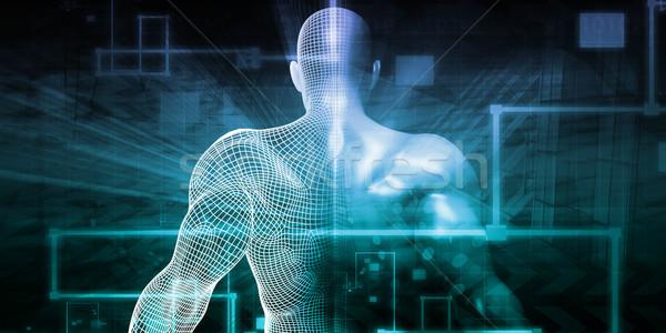 футуристический науки цифровой искусства бизнеса интернет Сток-фото © kentoh