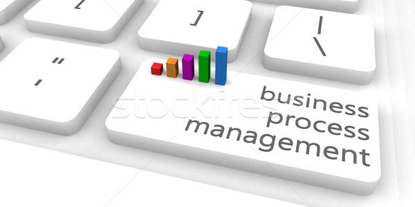 Business processo gestione bpm tastiera bar Foto d'archivio © kentoh