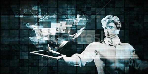 Multimedia technologie inhoud abstract netwerk communicatie Stockfoto © kentoh