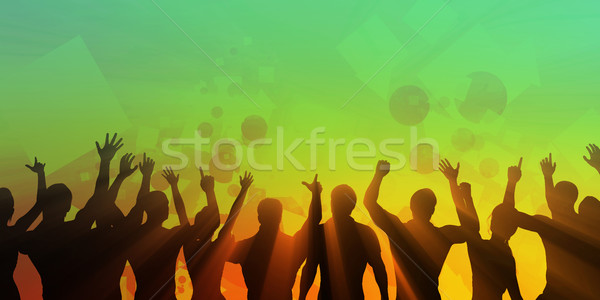 Disco Techno Party Background Stock photo © kentoh