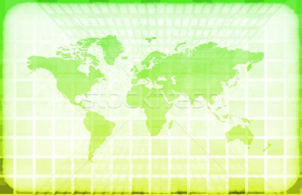 Grunge dünya bilgi teknolojisi harita soyut dizayn Stok fotoğraf © kentoh