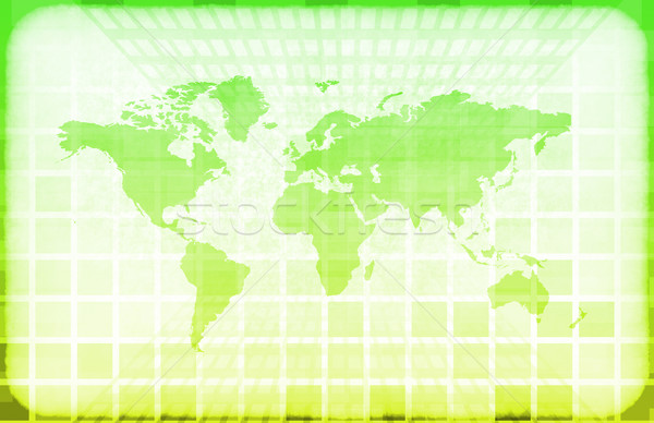 Grunge World Information Technology Stock photo © kentoh