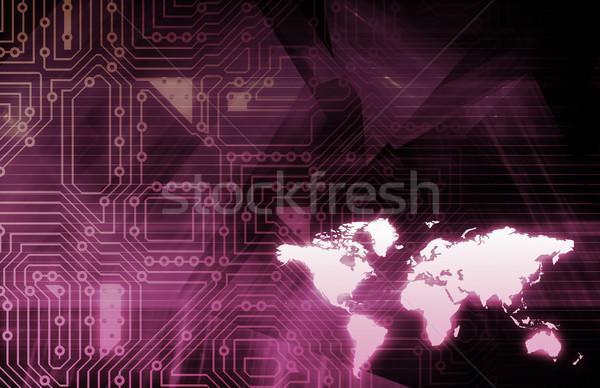 Iş teknoloji sanat Internet ağ Stok fotoğraf © kentoh