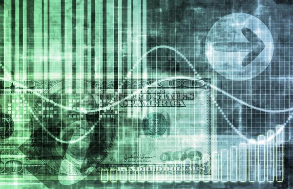 Digital economía resumen negocios wallpaper fondo Foto stock © kentoh