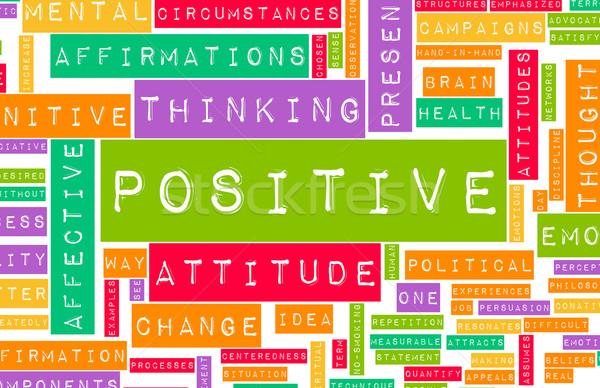 Thinking Positive Stock photo © kentoh