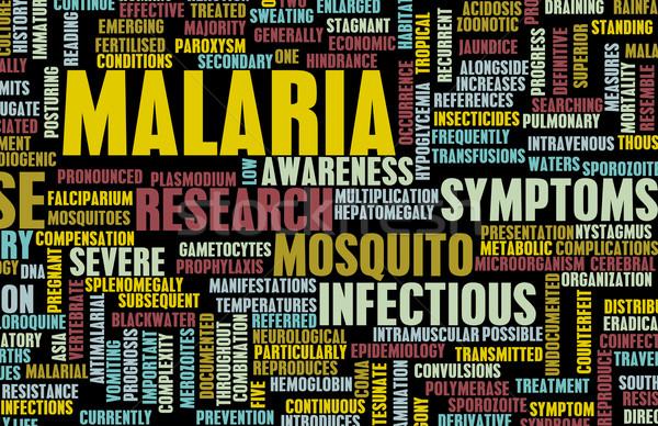 Malária doença médico condição arte sangue Foto stock © kentoh