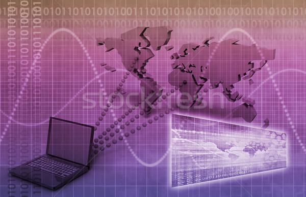 Adás mérnöki online internet otthon háló Stock fotó © kentoh
