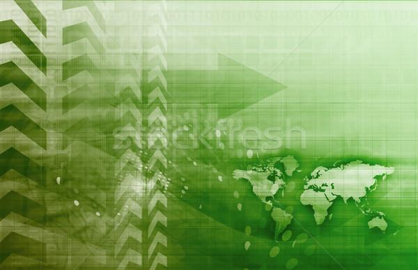 Negocio global estrategia arte negocios tecnología Foto stock © kentoh