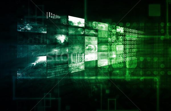 Creatieve media digitale inhoud netwerk internet Stockfoto © kentoh