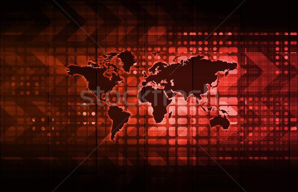 Logistica tecnologia società in tutto il mondo rete banca Foto d'archivio © kentoh
