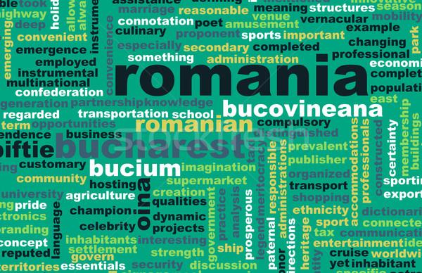 Rumunia kraju streszczenie sztuki działalności żywności Zdjęcia stock © kentoh