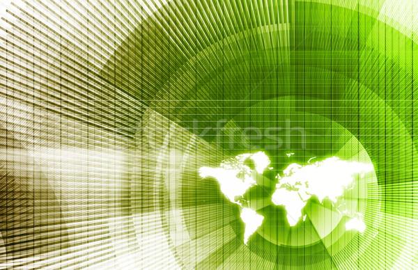 Global business sieci nowoczesne linie Zdjęcia stock © kentoh