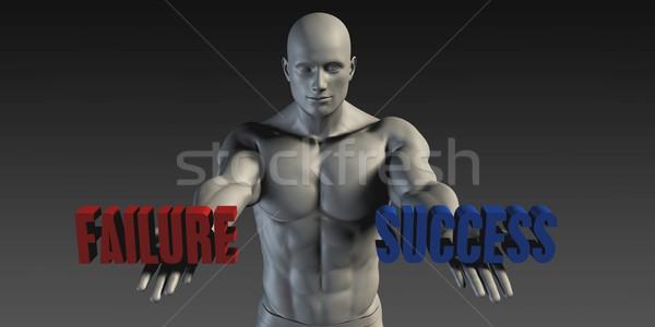 успех провал выбора различный вера синий Сток-фото © kentoh