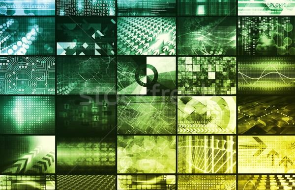 Gegevens analytics beheer groot business server Stockfoto © kentoh