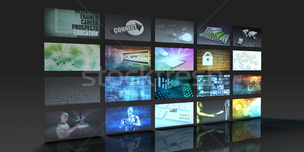 Televisie productie technologie videowall muur film Stockfoto © kentoh