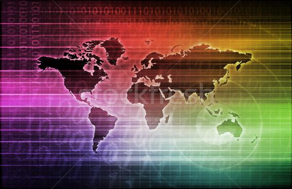 Technológia konnektivitás online háló internet világ Stock fotó © kentoh