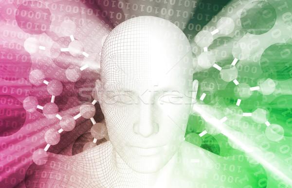 Сток-фото: нейрон · химии · молекулярный · исследований · компьютер · человека