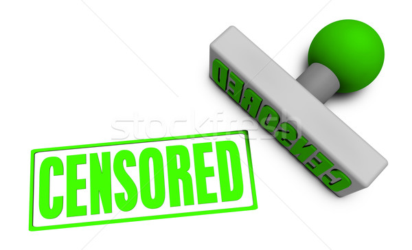 Censored Stamp Stock photo © kentoh