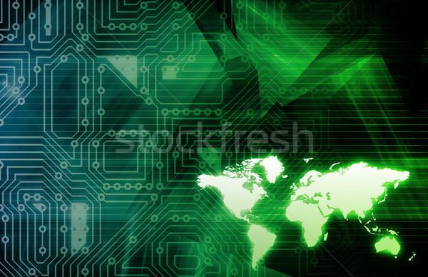бизнеса Tech искусства интернет сеть Сток-фото © kentoh