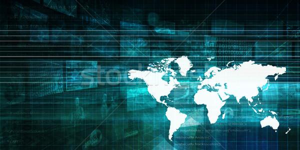 Globalny korporacja partnerów działalności Internetu pracy Zdjęcia stock © kentoh