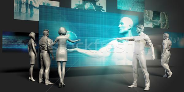 наблюдение технологий виртуальный презентация фон контроля Сток-фото © kentoh
