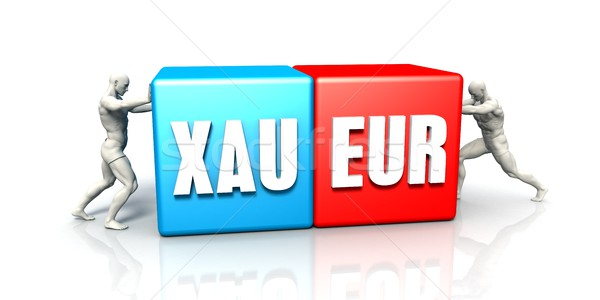 XAU EUR Currency Pair Stock photo © kentoh