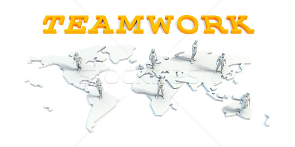 Teamwork Concept with Business Team Stock photo © kentoh