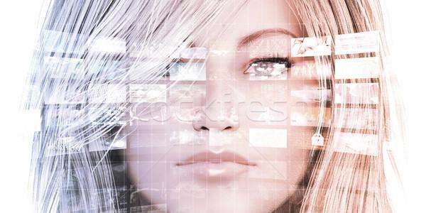 Données analyse analytics femme graphiques affaires Photo stock © kentoh