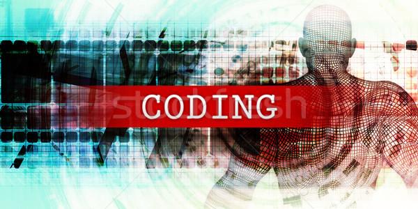 Kódolás ipari tech művészet orvosi háttér Stock fotó © kentoh