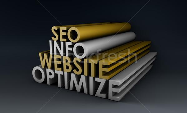 Info website internet ontwerp technologie Stockfoto © kentoh
