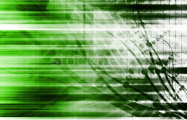 Fütüristik teknoloji iş Internet soyut Stok fotoğraf © kentoh