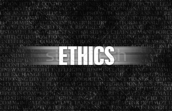 倫理 ビジネス モチベーション 石の壁 壁 岩 ストックフォト © kentoh