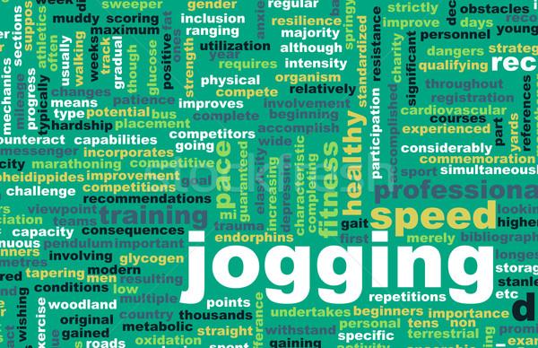 Jogging wytrzymałość fitness hobby sportu streszczenie Zdjęcia stock © kentoh