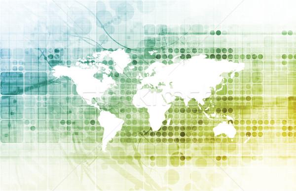 Foto stock: Equipe · de · negócios · global · companhia · negócio · mundo · fundo