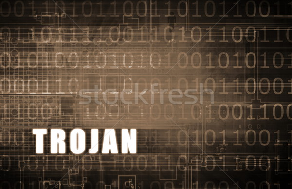 Troiano cavalo atacar digital binário aviso Foto stock © kentoh