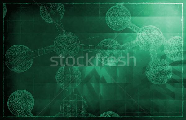 Iş başarı büyüme grafik ampul çalışmak Stok fotoğraf © kentoh